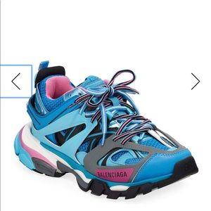 Balenciaga track color block mixed sneakers sz10